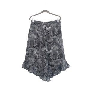 Gilligan & O'Malley Ruffle Pajama Geo Print Pants